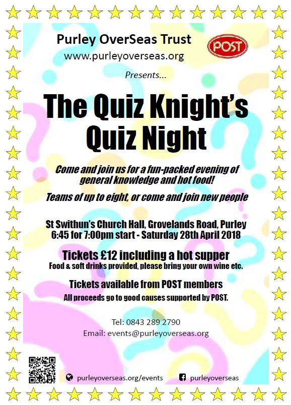 Quiz Night April 2018
